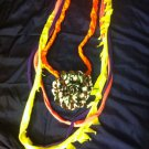 1 Of A Kind Amys Designs SCARF NECKLACE ,Multicolor Cool Camouflage Flower!!