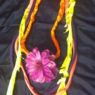1 Of A Kind Amys Designs SCARF NECKLACE ,Multicolor Cool Pinkish Purple Flower