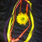 1 Of A Kind Amys Designs SCARF NECKLACE , Multicolor. Cool Yellow Flower