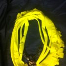 CLassy Cool 1Of A Kind Amys Designs SCARF NECKLACE Yellow With Camouflage Charm