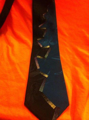Mens RETRO COOL Multi-Color Print Tie Necktie Azia