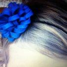 Amys Creations Handmade Stylish Blue Pom head band hair