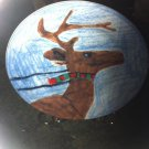 Christmas Village Kid's Collection Reindeer Plate
