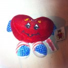 RARE AMERICAN I LOVE YOU RED HEART PLUSH STUFFED ANIMAL TOY