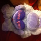 Cute Love U Plush Purple Hanging Ape Monkey