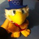 Vintage SAM the Olympic Eagle Plush ,Applause 1980