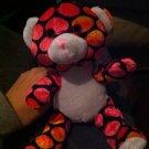 Rare Adorable Teddy Bear Plush, Multi Color Polka Dot,