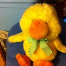 FAO Baby Fifth Avenue Yellow Baby Duck Bow Plush Stuffed Soft Toy