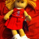 ADORABLE OLE MISS REBELS PLUSH STUFFED  CHEERLEADER DOLL