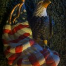 RARE LIBERTY SOCIETY COLLECTION PORCELAIN EAGLE FIGURINE SCULPTURE AMERICAN FLAG