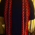 Designs By Amy One Of A Kind Handmade Multicolor Knitted/crochete Scarf-long