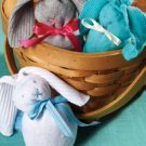Sock Bunny Grey,blue Or Pink Bunny stuffed animal toy by Creations By Amy
