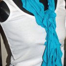 Designs By Amy 1Of A Kind Choose Your Color Blue Ruffled ScArf Handmade