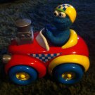 Cookie Monster Push n Go Race Car Tyco Sesame Street 1998 Vintage Toy