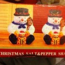 NIB  Holiday at Home Snowmen Salt and Pepper Shakers