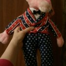 Very good condition with tags rare PINK PANTHER UNCLE SAM Plush Stuffed Animal