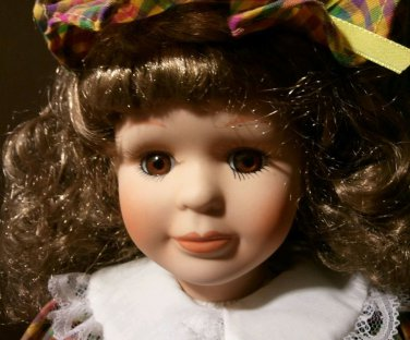 Beautiful Porcelain Doll with Hat