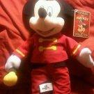 Disney Mickey Mouse Marching Band Uniform Stuffed Animal Plush Doll Toy 75th Anv