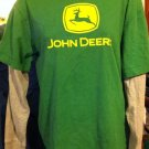 JOHN DEERE GREEN GRAY LONG SLEEVE Women's SHIRT SIZE L