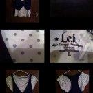 L.E.I Juniors Women's Polka Dot T Shirt Vest Size Large