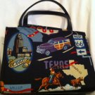 Route 66 Black Shoulder Bag Purse Small Very Cool! EUC