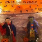 HALLOWEEN themed  magnets - set of 2 Dracula & Frankenstein  - NIP
