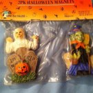 HALLOWEEN themed  magnets - set of 2 Mummy & Witch - NIP