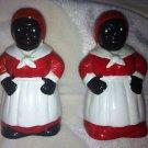 VINTAGE SALT AND PEPPER BLACK AFRICAN AMERICAN MAMMY's COOK & SALT & PEPPER