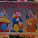 Ceramic Musical Clown Figurines  Set of 3 (Small)