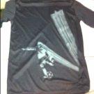 Boys Champion Large Athletic Short Sleeved Black Shirt W/soccer Player