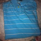 Abercrombie & Fitch Muscle Polo L Short Sleeve Blue w/ White stripes