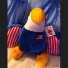 "MIGHTY BALD EAGLE USA Stuffed Animal Plush Approx 12""  Stars Stripe"