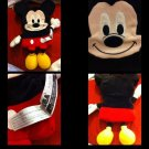 DISNEY MICKEY MOUSE SEGA SHAPES 'N STYLES SERIES 1 PLUSH TOY FLAT CARTOON CLEAN!