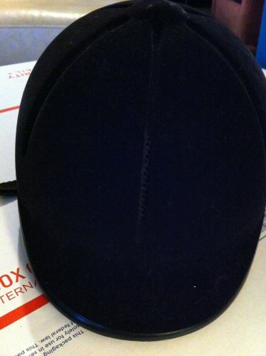 FOUGANZA Black Velvet Safety Horse Riding Equestrian Head Helmet Hat EC 52-56cm