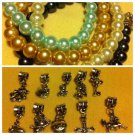 Girls Comfort cross Pearl Bracelet With Your Choice Of Charm/Color!Hello Kitty