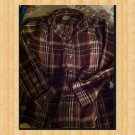 EUC MK Machine FLANNEL CHECK SHIRT  BOYS LARGE