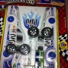 1/32 Scale Race Car Cardboard Model Kit Pull Friction Speed Shotz Paper Kit Whte