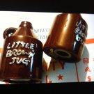 Vintage Little Brown Jug salt & pepper shakers
