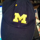 Vintage University of Michigan Wolverines Velcro Back Embroidered Cap - Blue