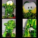 EUC plush green fire Garfield Stuffed Toy