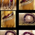 Comfort Cross Purple Bracelate Silver Cross & Bangles CHRISTIAN HANDMADE