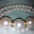 Custome Cross White Pearl Bracelet
