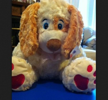 Super Soft & Adorable Plush Tan Beige Puppy Dog
