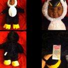 "Sugar Loaf Brand 16"" DOLL as A Penguin Plush Stuffed Body,Vinyl Face+ Hands"
