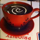 Hard To Find Cappuccino  COFFEE TIme LIGHT LAMP CUP  & Saucer