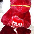 Red Frog Plush Toy  Stuffed Animal  Red Hug Me Heart