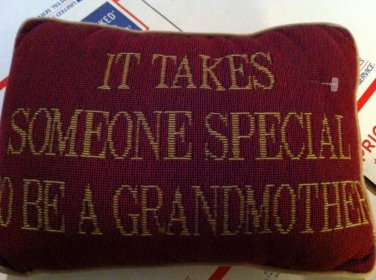 It Takes Someone Special To Be A Grandmother Throw Pillow -