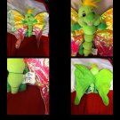 Carousel Toy Butterfly Plush Shimmer Wings Stuffed Animal Green 1999 DGC Corp