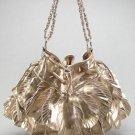 Bronze Leaf Floral Chain Handbag Fashion Tote Purse Bag