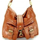 Camel Legacy Double Pocket Hobo Tote Handbag Purse Bag